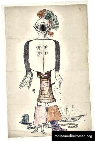 eine exquisite Leiche ohne Titel von André Breton, Man Ray, Max Morise und Yves Tanguy (1927)