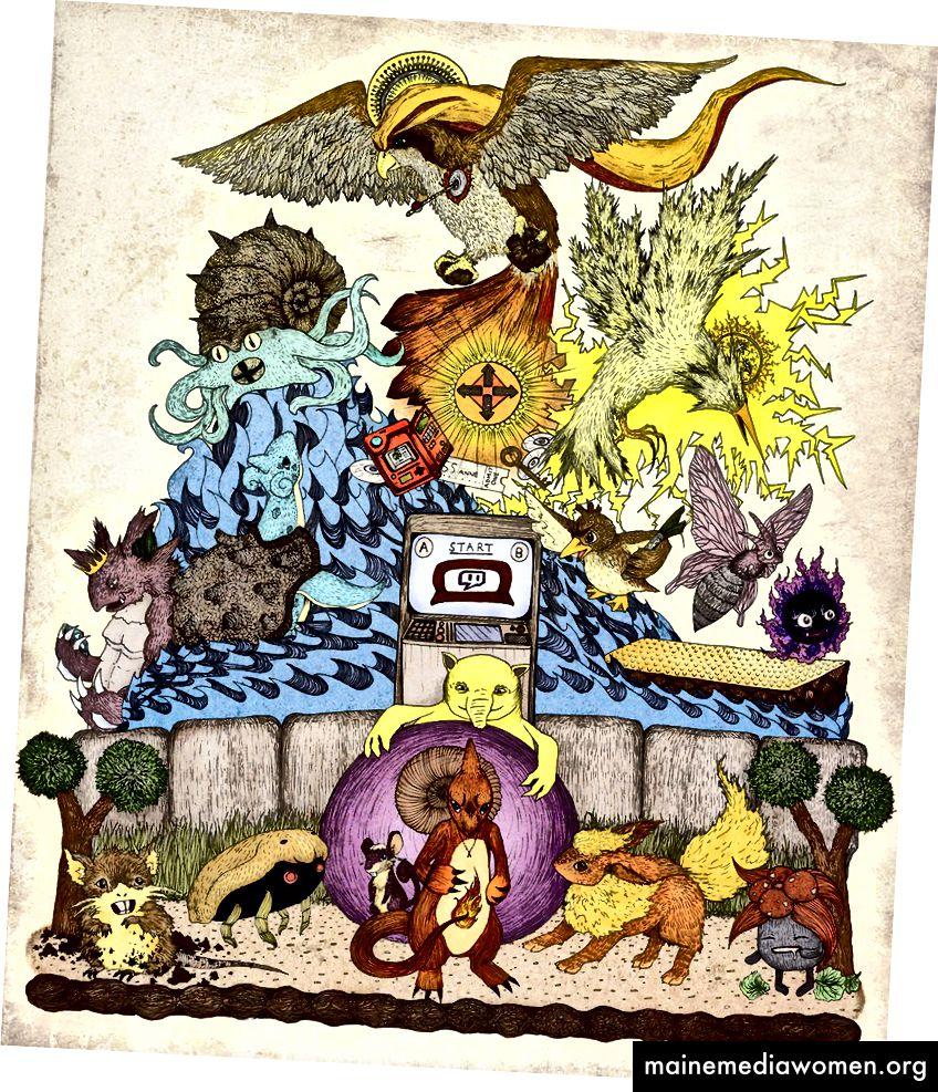 Twitch spielt Pokemon-Fanart von http://engraven.deviantart.com/