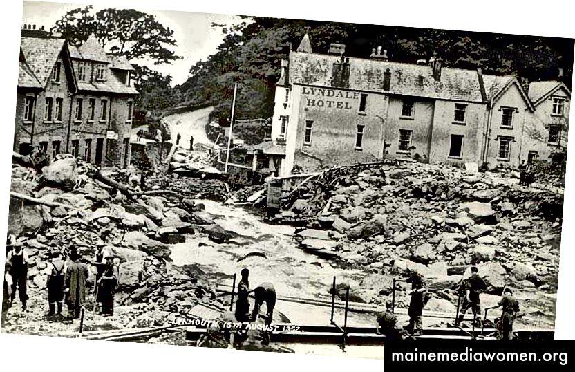 Lynmouth, Devon, 1952 [Quelle]