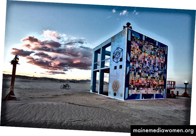 The Life Cube at Burning Man ، 2015. تصوير أندرو ميلر