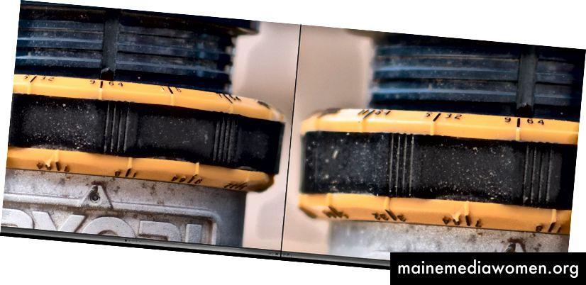 XT2 links, Nikon D810 rechts