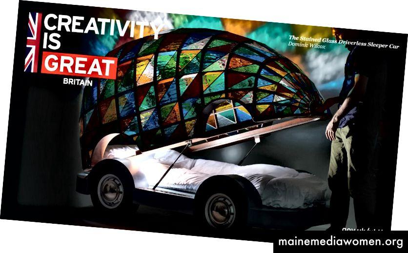 Designer, Erfinder und Inspirator Dominic Wilcox in der UKTI-Kreativitätskampagne