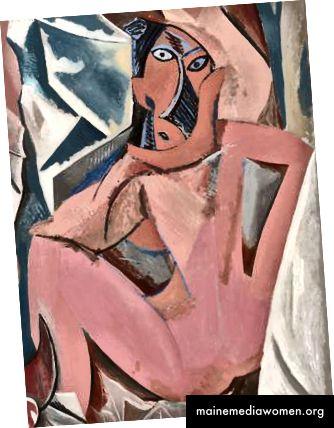 Les Demoiselles d'Avignon von Pablo Picasso, 1907