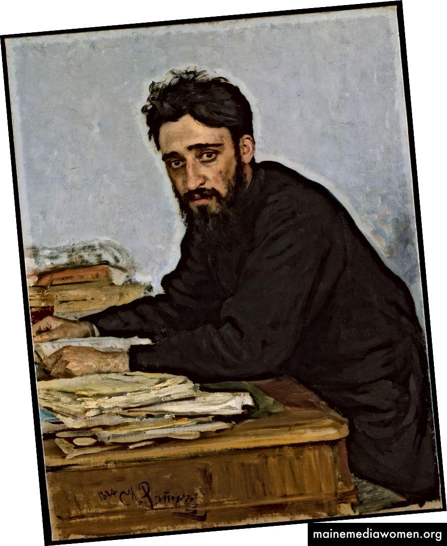 Vsevolod Mikhailovich Garshin (1855–1888) von Ilia Efimovich Repin