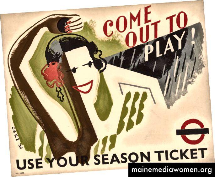 Come Out to Play von Clifford Ellis und Rosemary Ellis, 1936 | Mit freundlicher Genehmigung des London Transport Museum