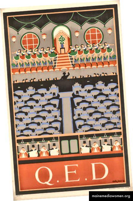 Q.E.D, von Margaret Calkin James, 1929 | Mit freundlicher Genehmigung des London Transport Museum