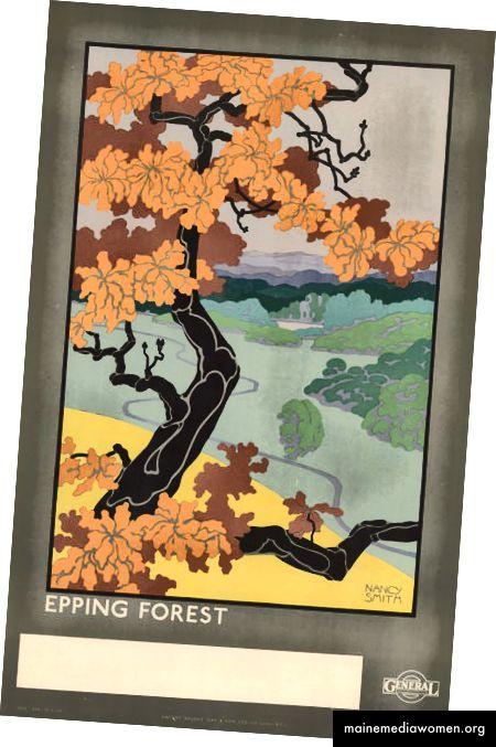 Epping Forest, von Nancy Smith, 1922 | Mit freundlicher Genehmigung des London Transport Museum