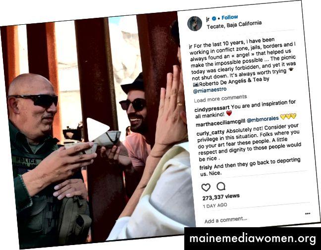 Screenshot von JRs Instagram-Upload vom 9. Oktober.