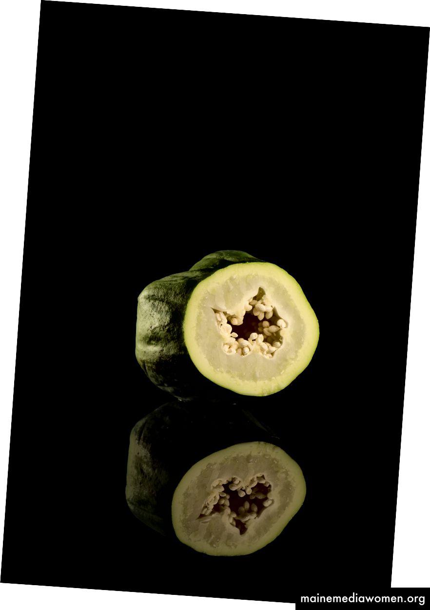 Grüne Papaya.