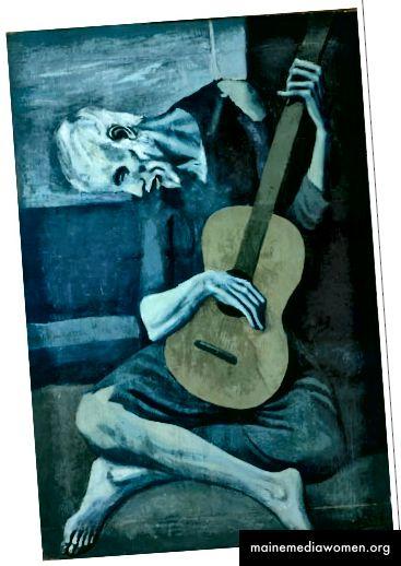 Der alte Gitarrist (Picasso) [Seine Gitarre ist nicht blau.]