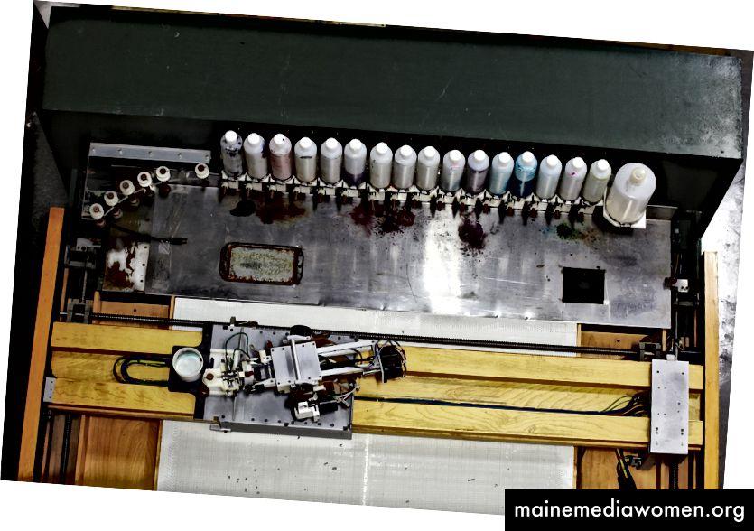 AARON Paint System, 1995. Foto © Mark Richards. Sammlung des Computergeschichtlichen Museums, 102682839.