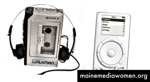 Walkman имаше по-голямо влияние върху това как хората изживяват музика от iPod. Walkman нека (за първи път) да вземем музиката си със себе си навсякъде и да я преживеем в различни контексти. Слушането на плажа и гледане на залез беше различно изживяване от слушането у дома. IPod беше по-голям, по-добър ходещ.