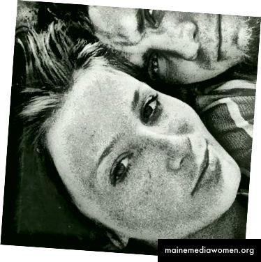Витас Лукус и съпругата му Татяна, в автопортрет