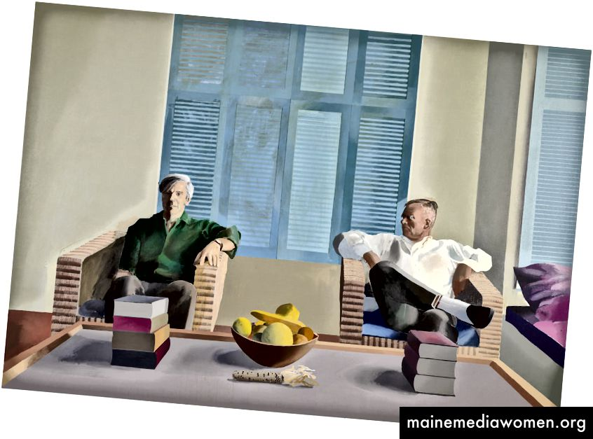 David Hockney, Christopher Isherwood und Don Bachardy, 1968 | © David Hockney