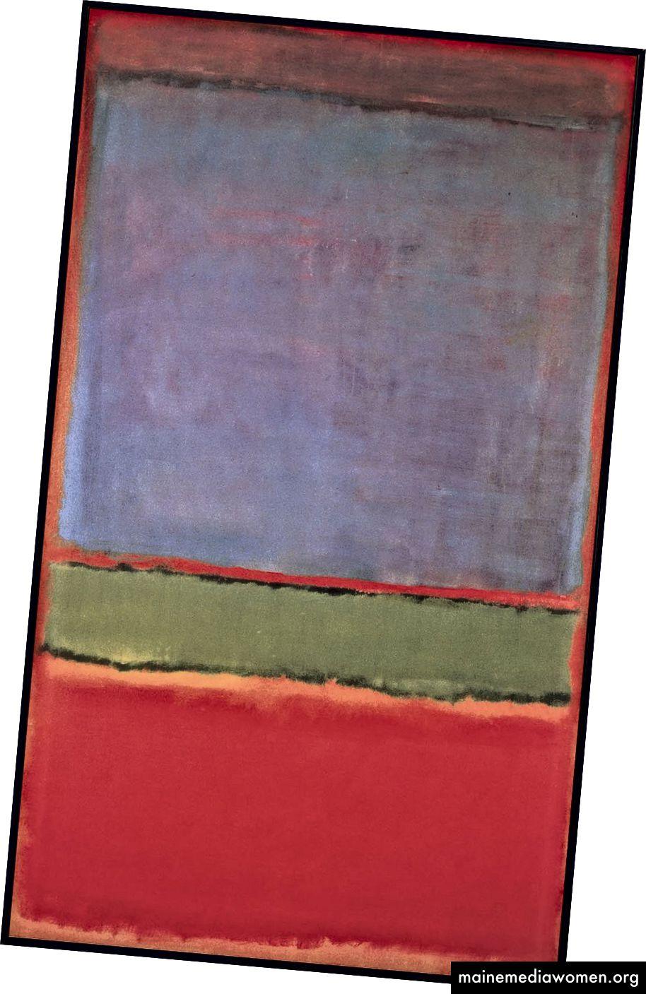 №6 (Violett, Grün und Rot) - Mark Rothko
