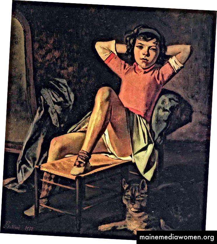 """""""Mädchen und Katze / Thérèse, 1938"""