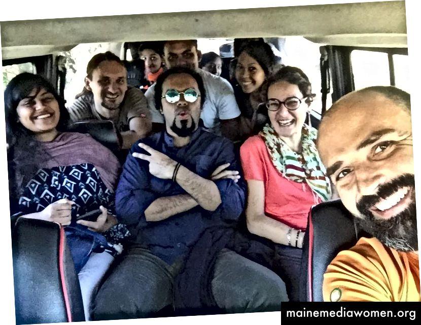 Das Art Camp Team: von rechts nach links: Adam, Laura, ich, Sabrin, Hanisa, Arman, Szymon