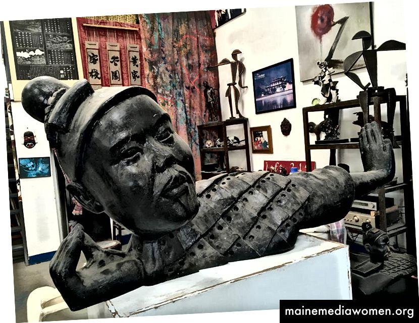 Daniels Studio ist jetzt eine Ansammlung von Referenzen und realisierten Arbeiten. Bild von China Daily.com.