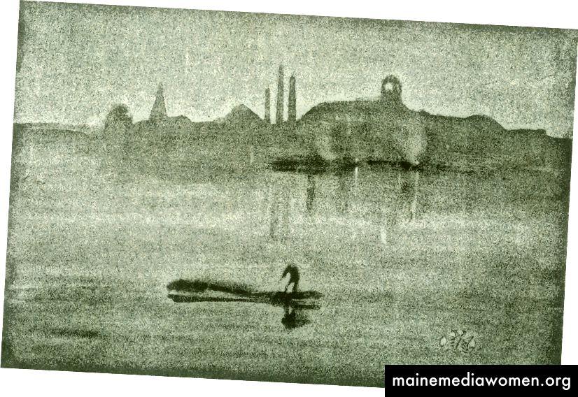 1. James Abbott McNeill Whistler, Nocturne: Der Fluss bei Battersea.