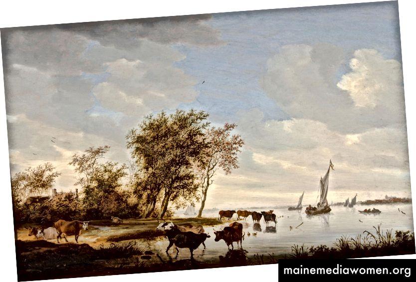 2. Wir beginnen Dinge zu sehen, auf die Künstler uns hinweisen. Solomon van Ruysdael, Flussblick, 1642.