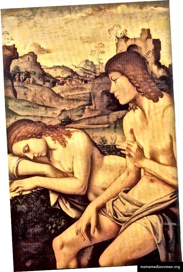 4. Eine Erinnerung daran, wofür wir beim ersten Date dankbar waren. Niccolo Pisano, Eine Idylle: Daphnis und Chloe um 1500.