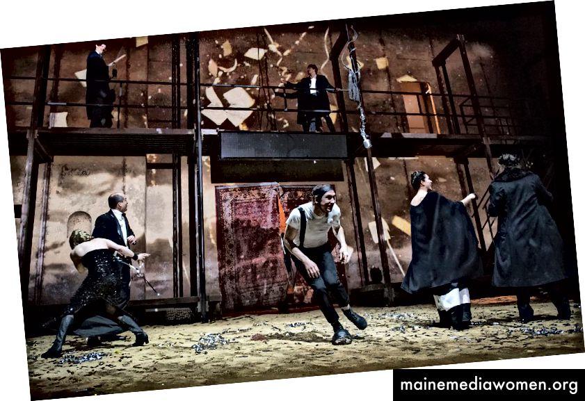 Richard III im Barbican. Bild von hier.