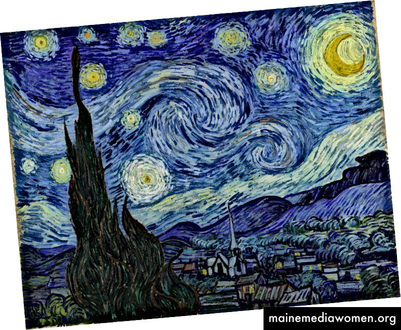 Die sternenklare Nacht von Vincent Van Gogh. Bildnachweis: MoMA Das Museum für moderne Kunst