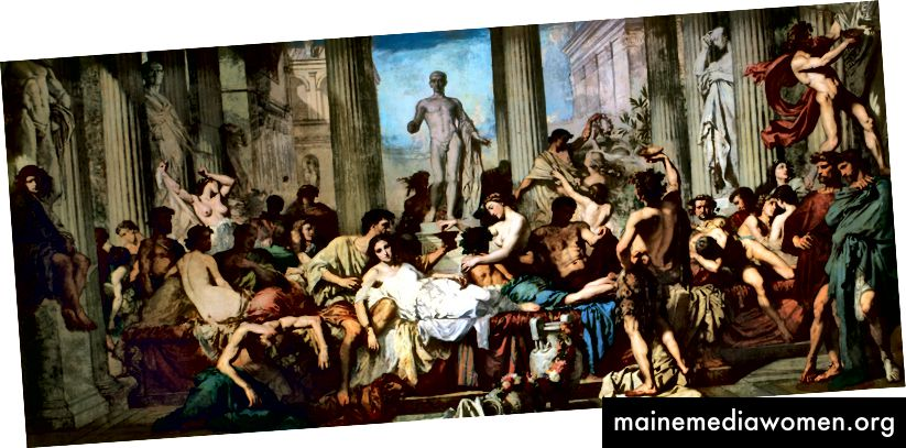 Die Dekadenz der Römer, von Thomas Couture, 1847. Musée d'Orsay