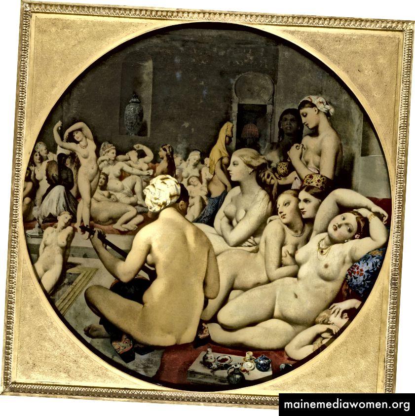 Jean Auguste Dominique Ingres (Französisch, Das Türkische Bad, 1862) Öl auf Leinwand