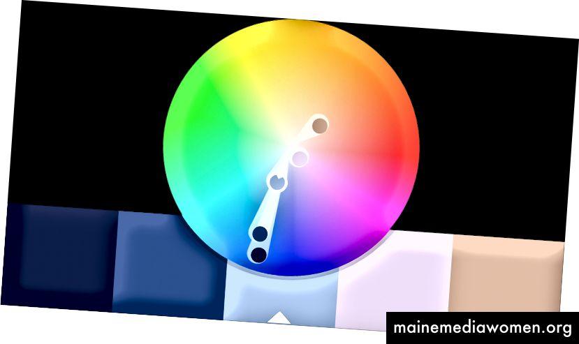 Alle meine Farbzusammensetzungen werden mit Kuler erstellt, heutzutage als Adobe Color CC bekannt.