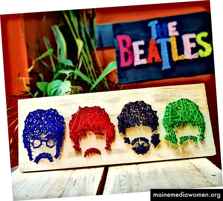 Beatles - String Art von Sonal Malhotra - Stoned Santa
