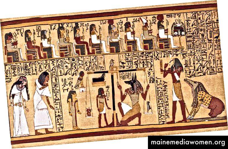 """Alte Kunst war zweidimensional. Ägyptische Künstler griffen manchmal auf """"zusammengesetzte"""" Bilder zurück, um mehrere Ansichten in ein Bild zu integrieren."""