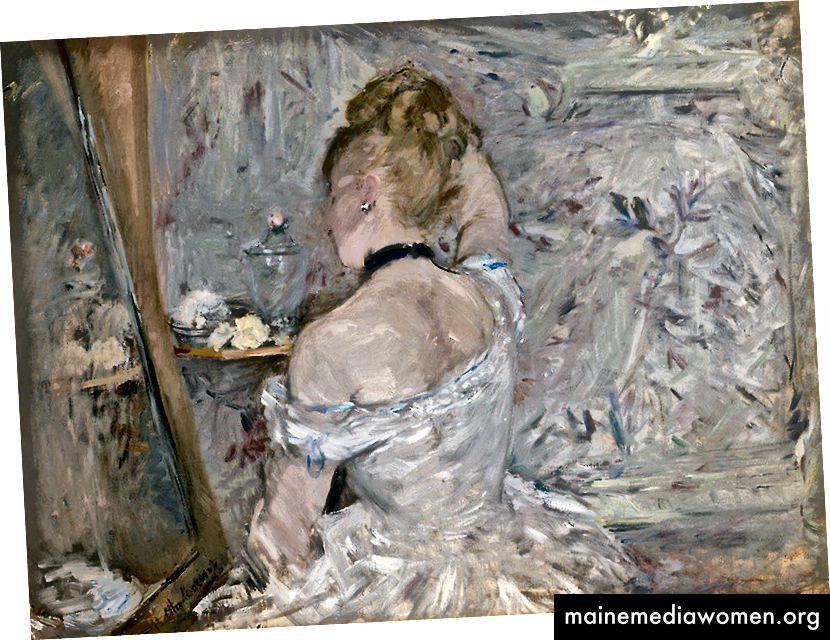 Frau bei der Toilette, 1875/80, von Berthe Morisot 1841–1895