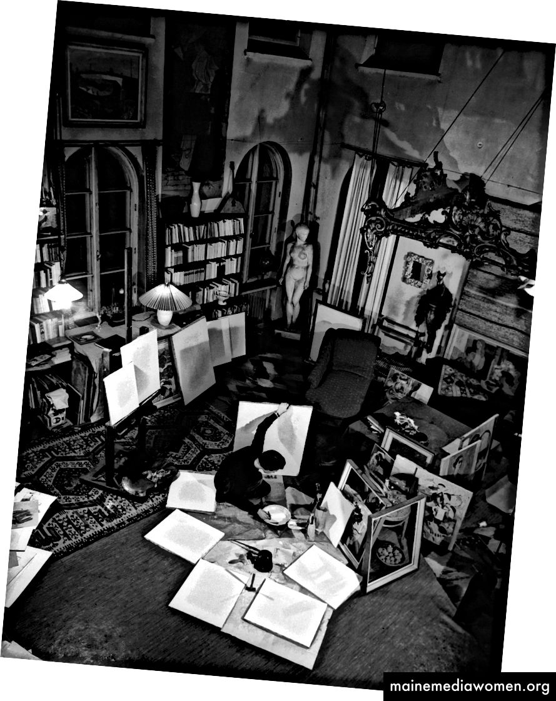 Tove Jansson in ihrem Atelier © Per Olov Jansson
