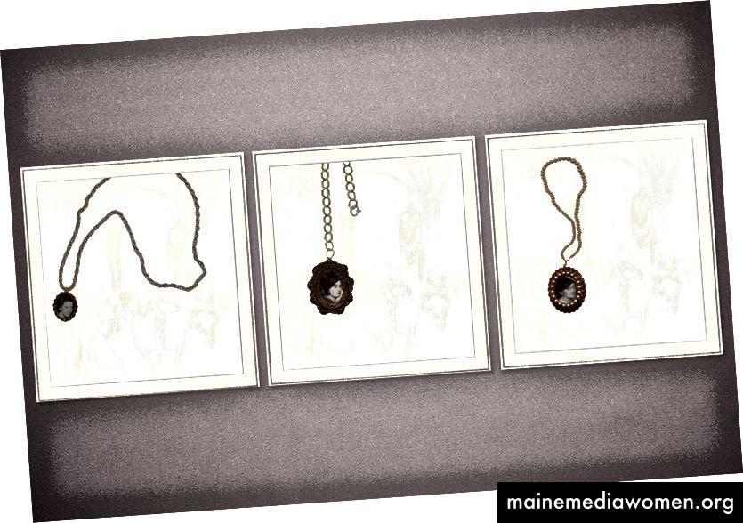 'Erbstücke und Accessoires', 2002 {Foto über JSTOR}. Bei der MOCA in Los Angeles wurden die Bilder wie bei der Met Breuer hier gezeigt aufgehängt, bei der MOCA war das Etikett jedoch rechts angebracht. Das Original-Quellfoto kann hier angesehen werden.