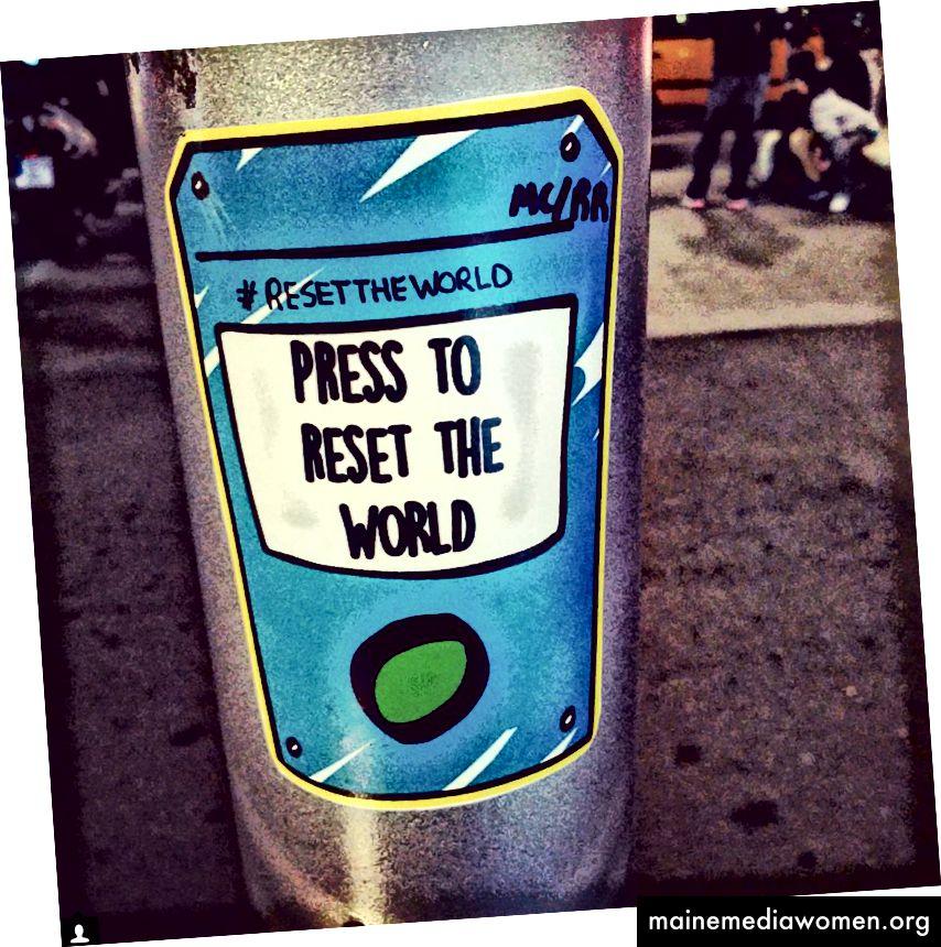 Unsere Sticker rechts in Barcelona wurden von einem zufälligen Betrachter eingefangen
