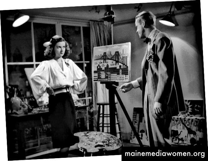 Joan Bennett (Kitty March) gegenüber Dan Duryea (Johnny) in der