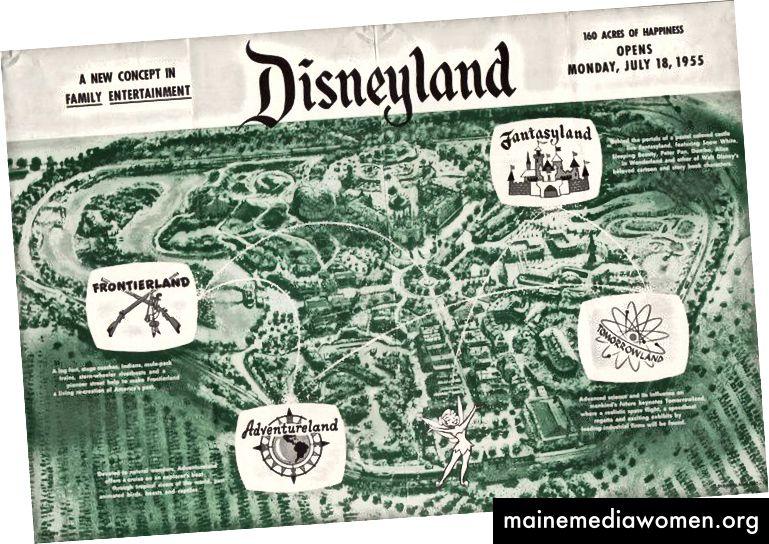 Disneyland wurde 1955 eröffnet und stellte 2017 den Prototyp von Trump's America her.