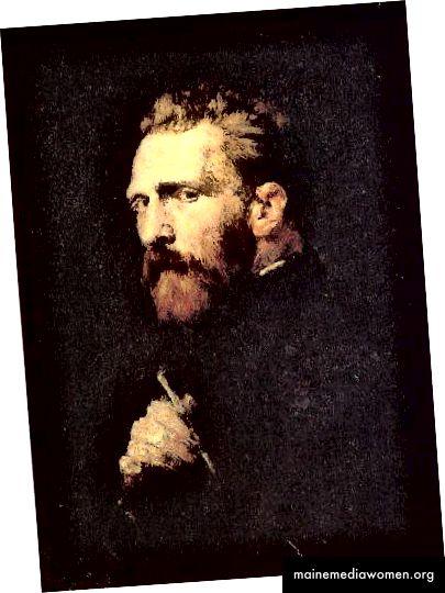Porträt von Vincent Van Gogh von John Peter Russell. 1886.