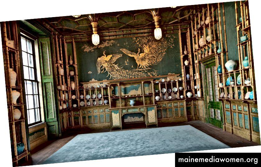 Der Pfauenzimmer    1876    James McNeill Whistler