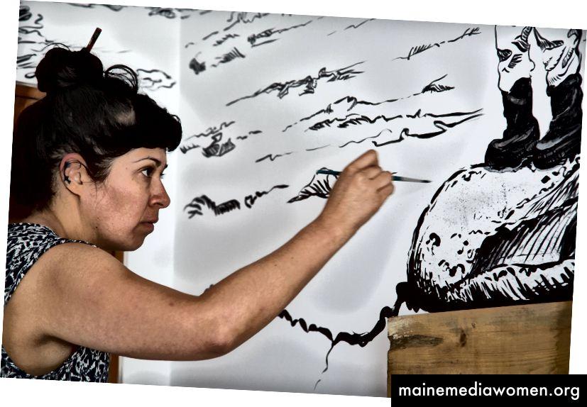 Die Bild- und Installationskünstlerin Soma malt ihr Zimmer © El Ganzo