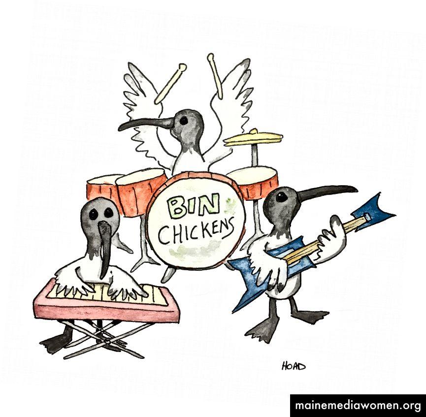 Tag 48 - Das erste von vielen ibis-Gemälden