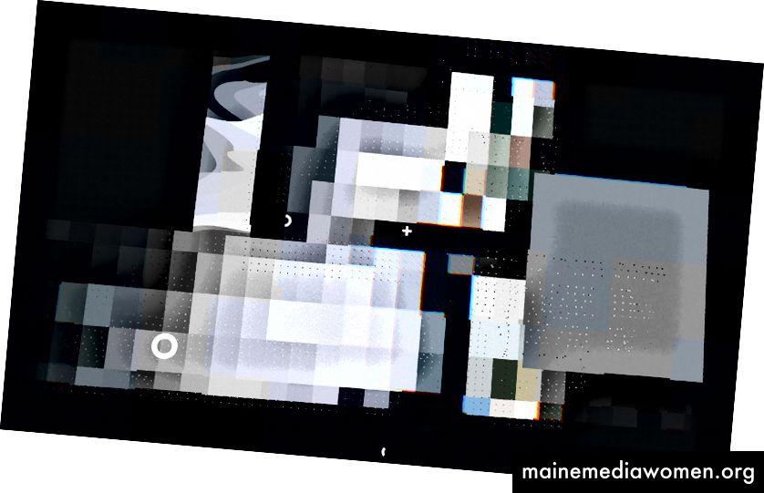 Einige Bildschirme des VJ-Sets