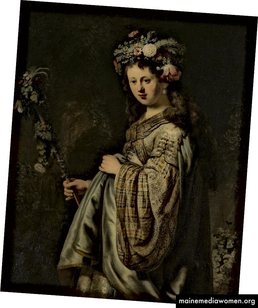 Flora, 1634, Öl auf Leinwand, 125 x 101 cm, Die Staatliche Eremitage, St. Petersburg