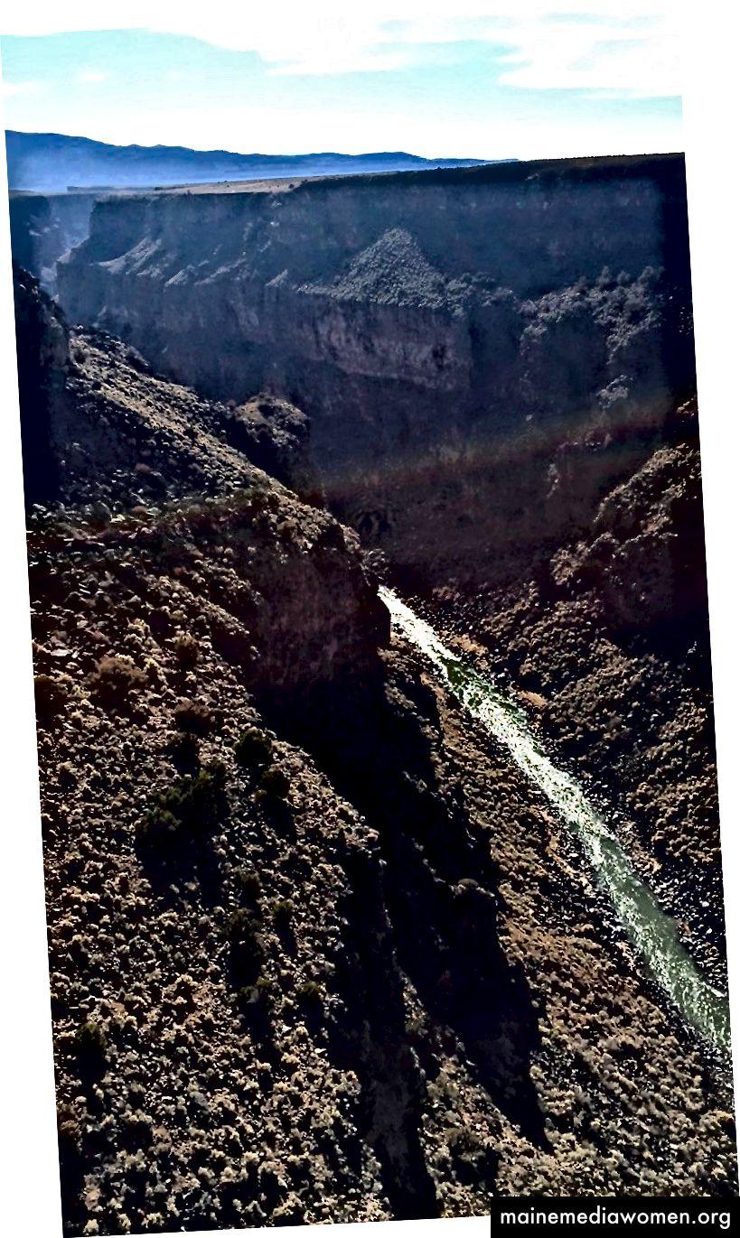 Blick von der Taos Gorge Bridge, 16.12.1990