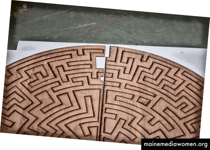 Lasergeschnittene Muster