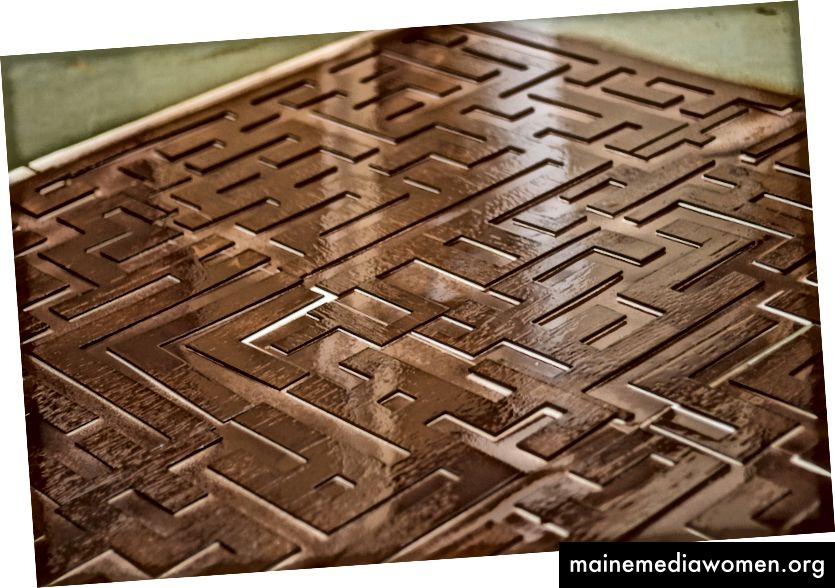 Bronze gemalte Muster - zur Befestigung auf Acrylplatten