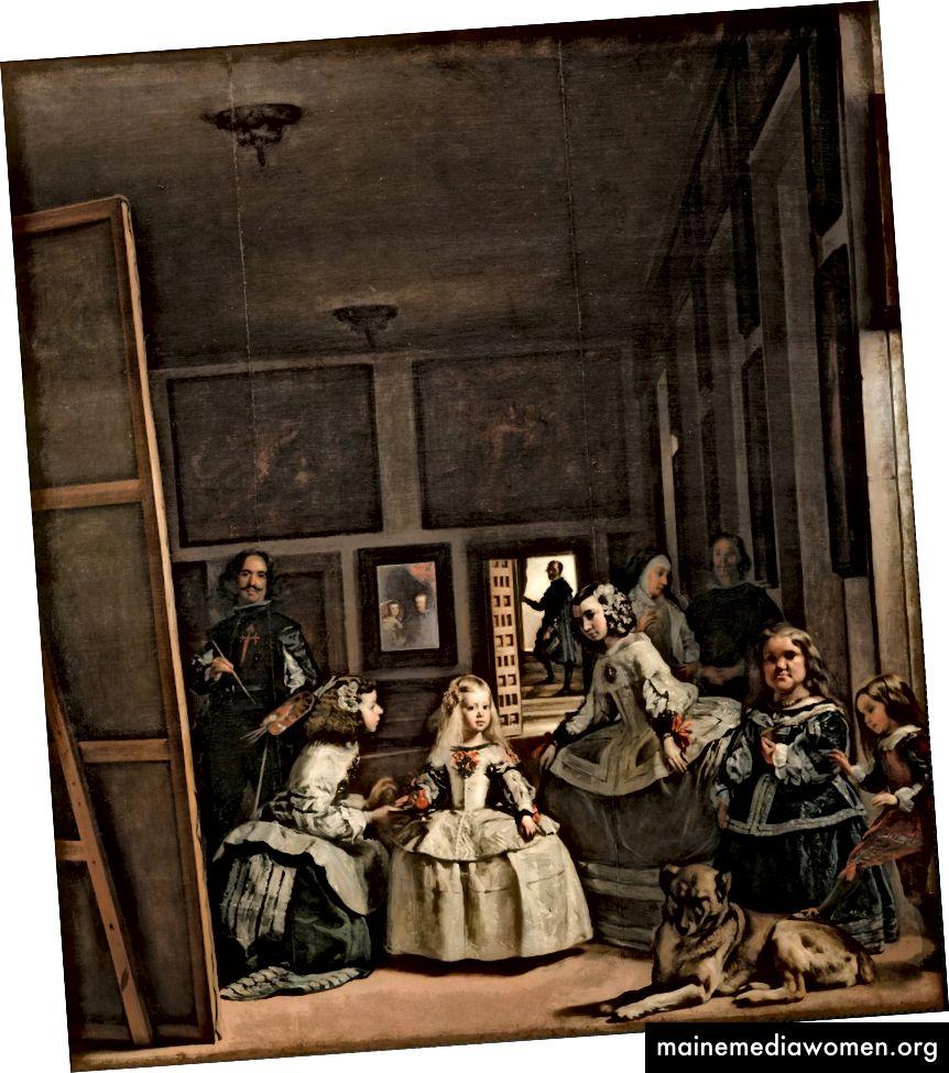 Las Meninas, Diego Velazquez, 1656, Öl auf Leinwand, 318 x 276 cm, Museo del Prado, Madrid