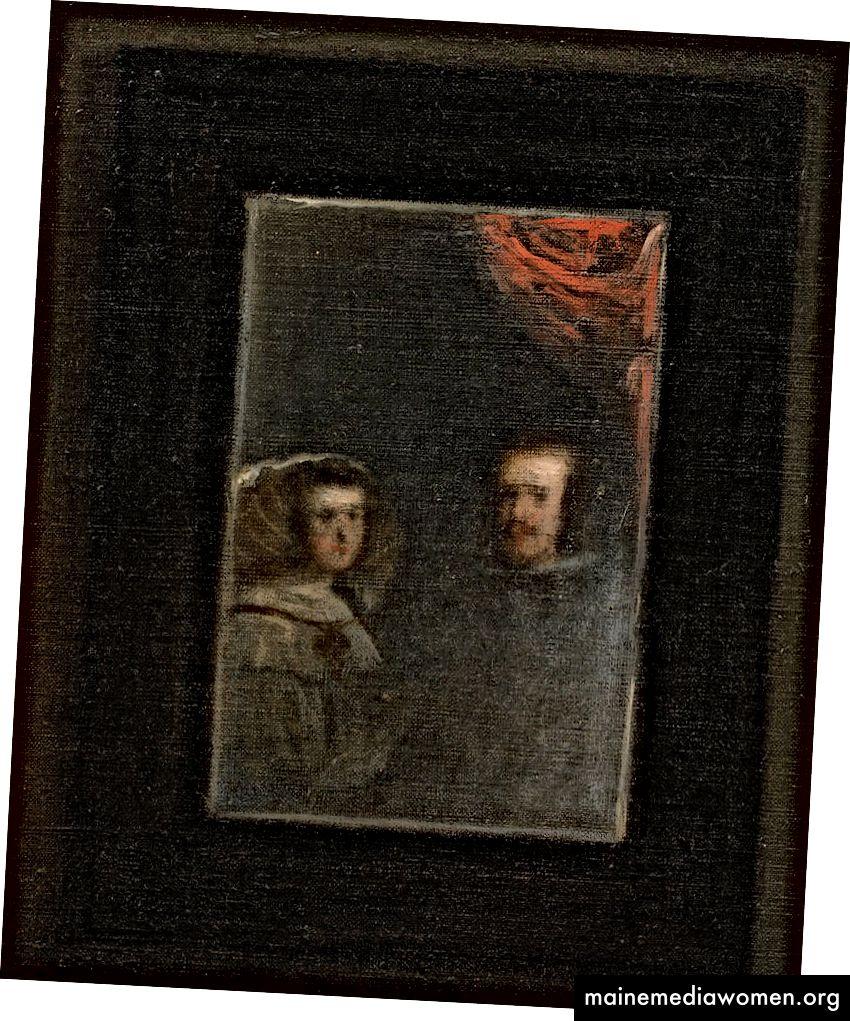 Detail des Spiegels, Las Meninas