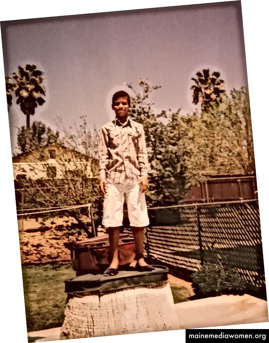 Ich im Alter von 6 Jahren